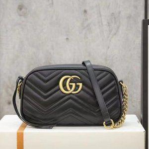 💜Gucci GG marmont crossbody bag 24x13x7cm
